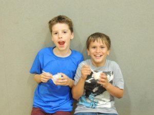 Lucas, Marshall PD ice cream social